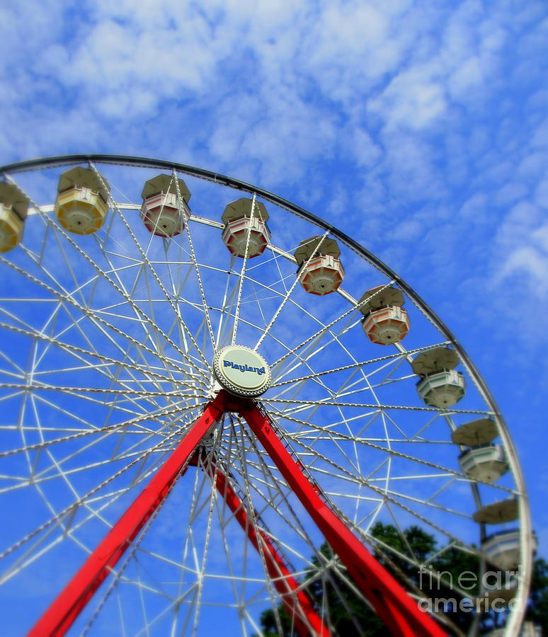 Ferris Wheel Photograph - Playland Ferris Wheel by Maria Scarfone