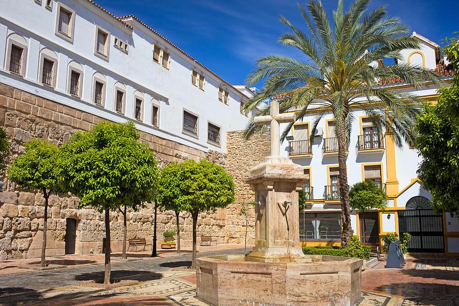 Marbella Photograph - Plaza De La Iglesia In Marbella by Artur Bogacki
