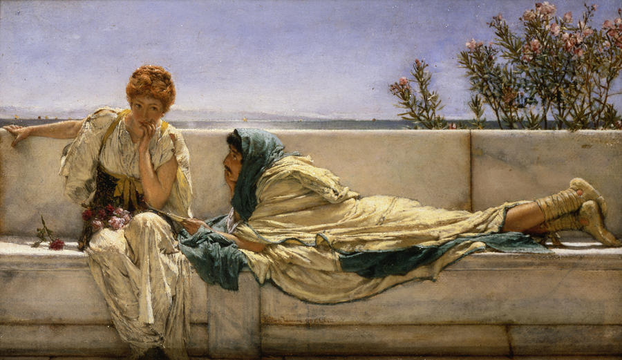Pleading Painting - Pleading by Sir Lawrence Alma-Tadema