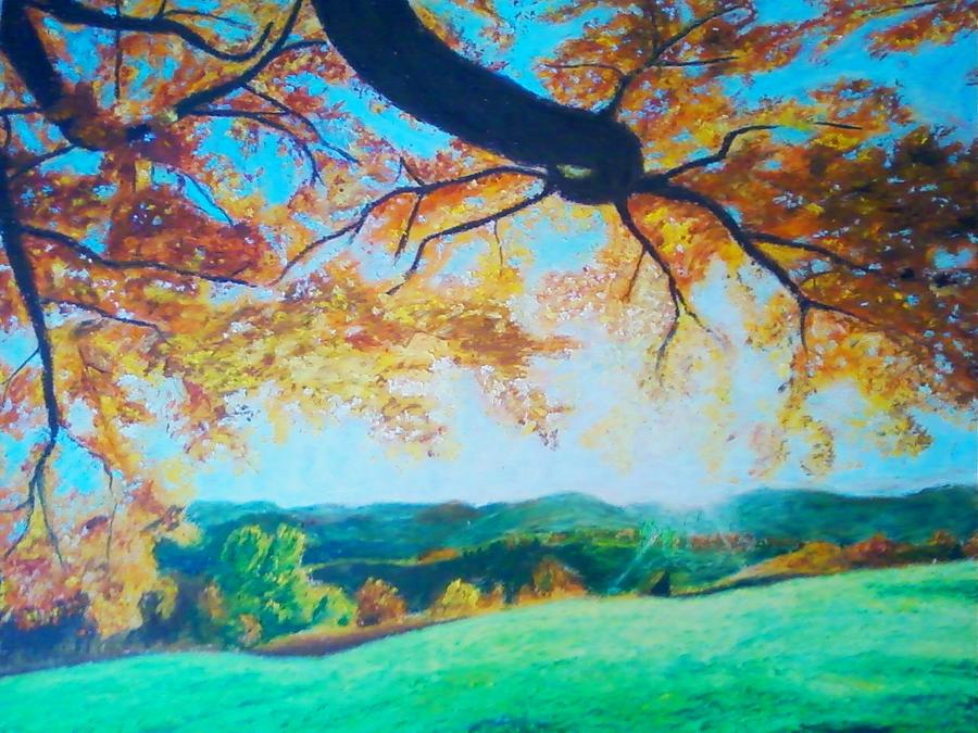 Fall Painting - Pleasant Valley In Fall by Samuel McMullen