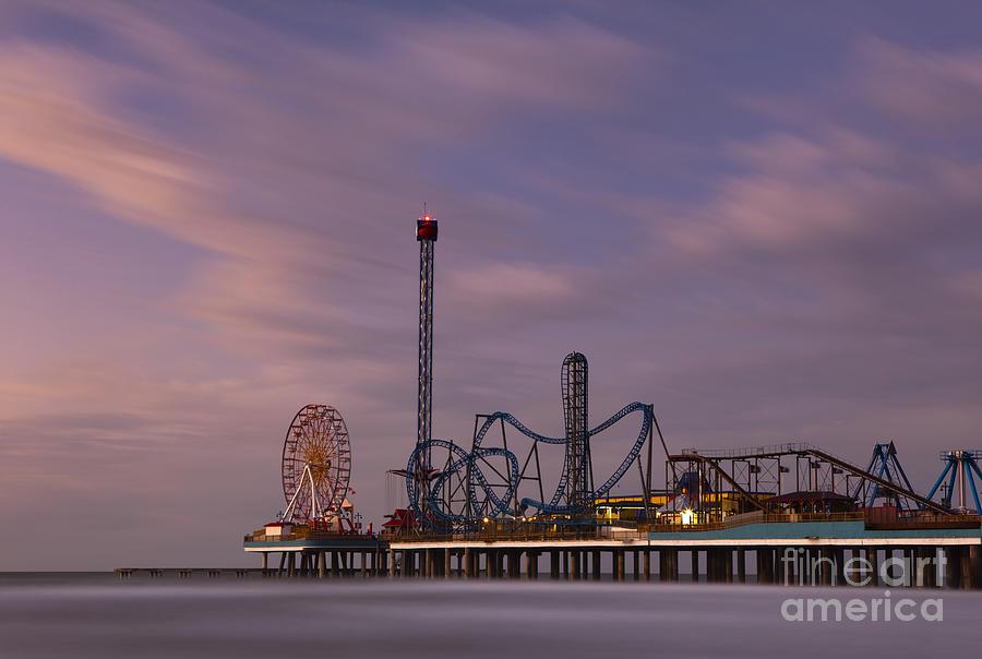 Pleasure Pier Amusement Park Galveston Texas Photograph by ...