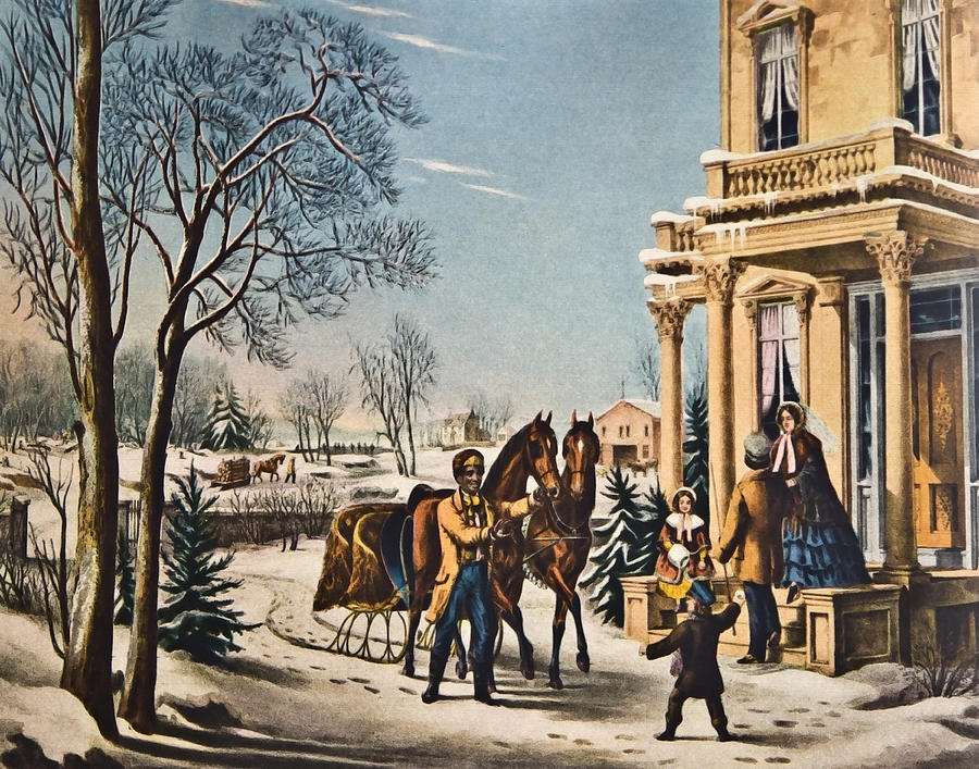 Currier Photograph - Pleasures Of Winter By Currier And Ives by Susan Leggett