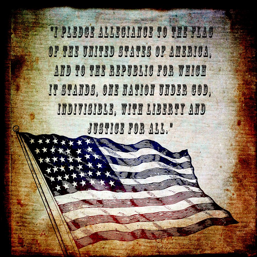 Usa Mixed Media - Pledge by Angelina Vick