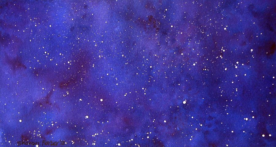 Stars Painting - Pleiades by Sharon Farber