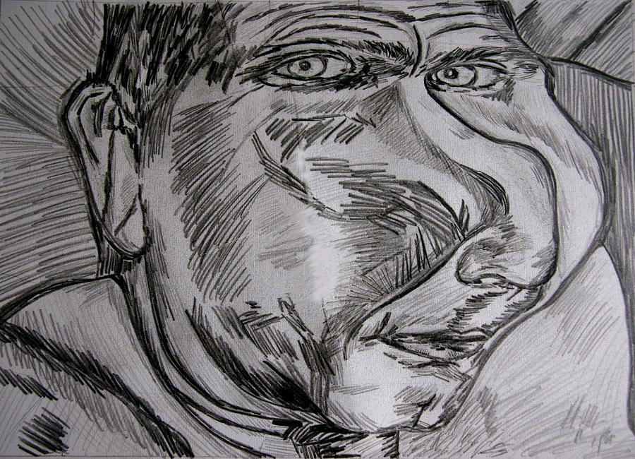 Drawings Drawing - Plop by Karen Elzinga