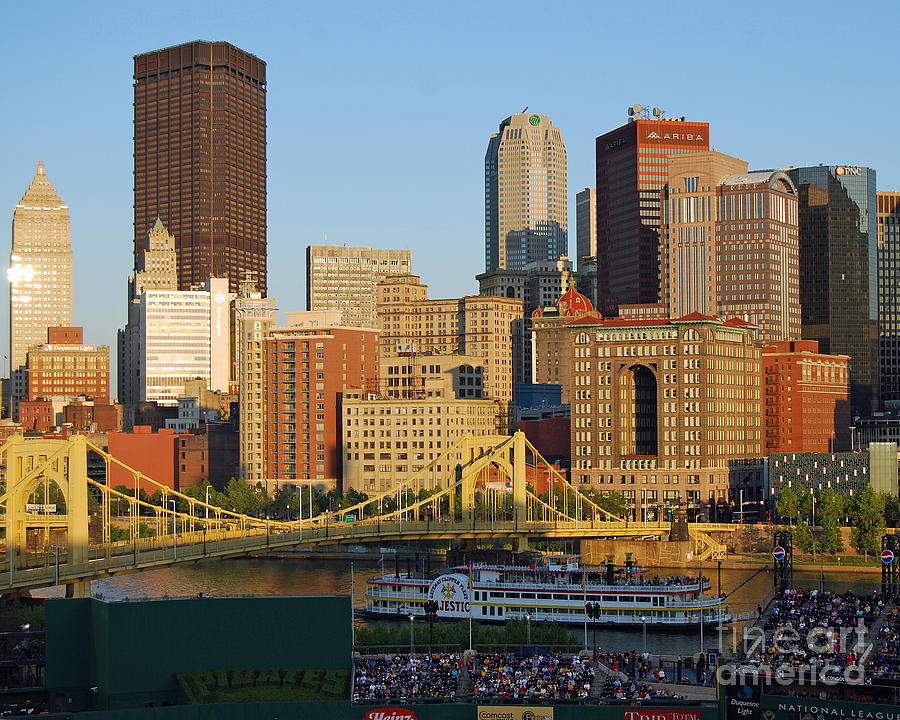 Pittsburgh Photograph - Pnc Park And River Boat by Steve Whalen