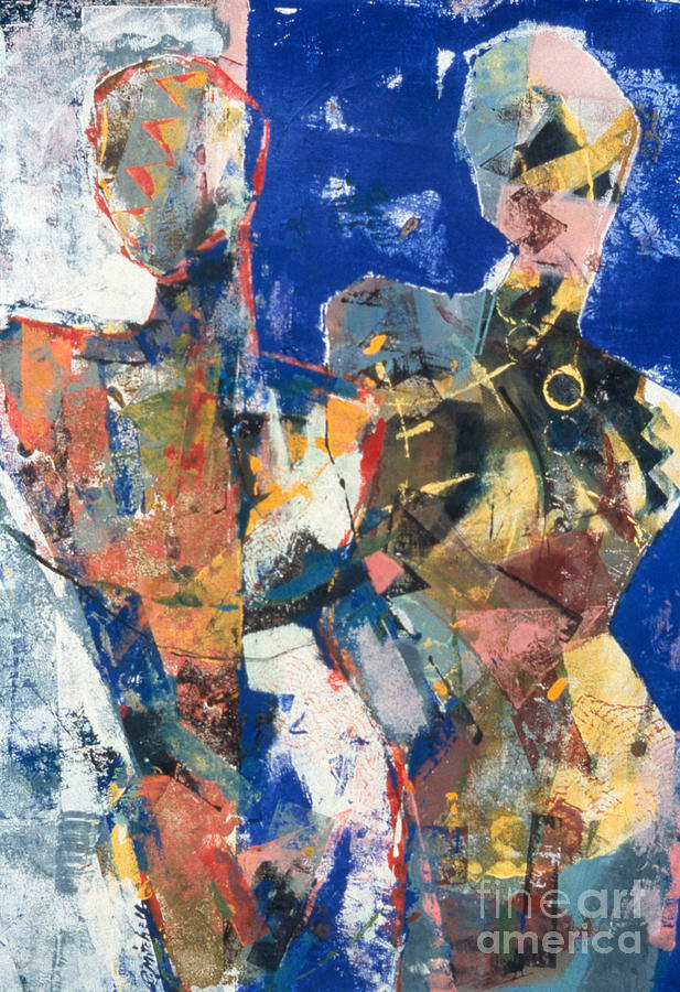 Point - Counter Point I Mixed Media by Charles B Mitchell