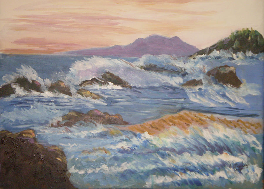 Point Reyes Painting - Point Reyes Storm by Al Steinberg