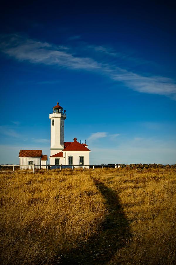Lighthouse Photograph - Point Wilson Lighthouse by Dan Mihai