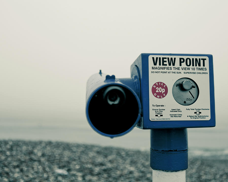 Horizontal Photograph - Pointlessness Is Pointing Telescope by Andy Teo aka Photocillin