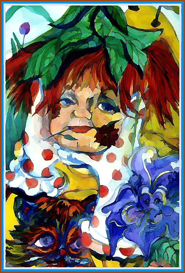 Leprechan Painting - Pokadot Gloves by Mindy Newman