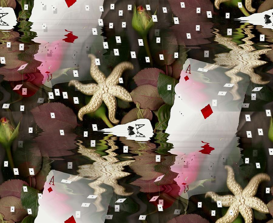 Landscape Mixed Media - Poker Pop Art All In by Pepita Selles