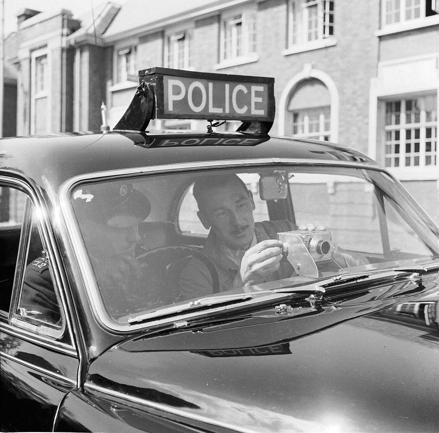 Adults Only Photograph - Police Camera Action by Ken Harding