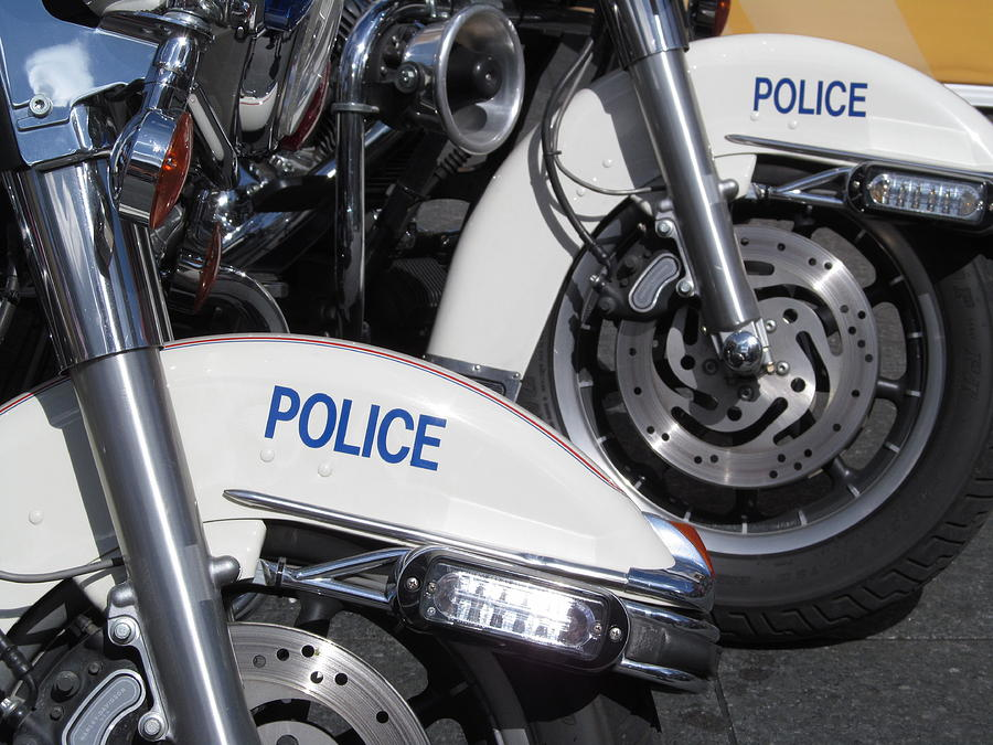 Wheels Photograph - Police Wheels by Alfred Ng