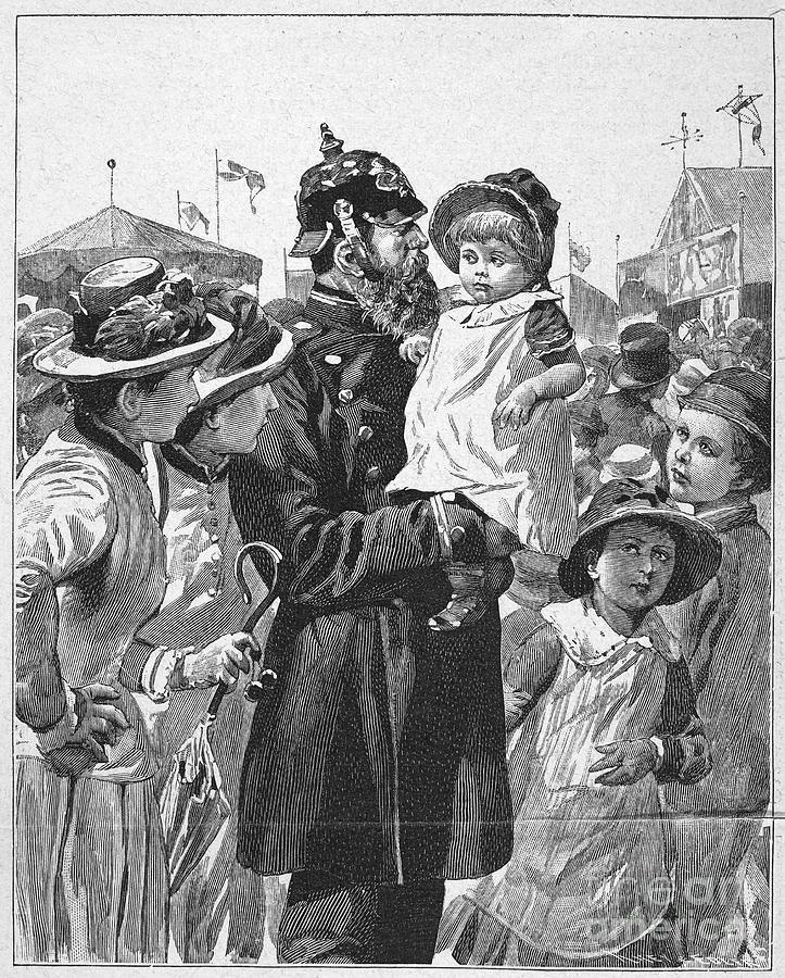 1885 Photograph - Policeman, 1885 by Granger