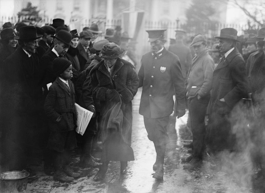 History Photograph - Policeman Leads An Arrested National by Everett