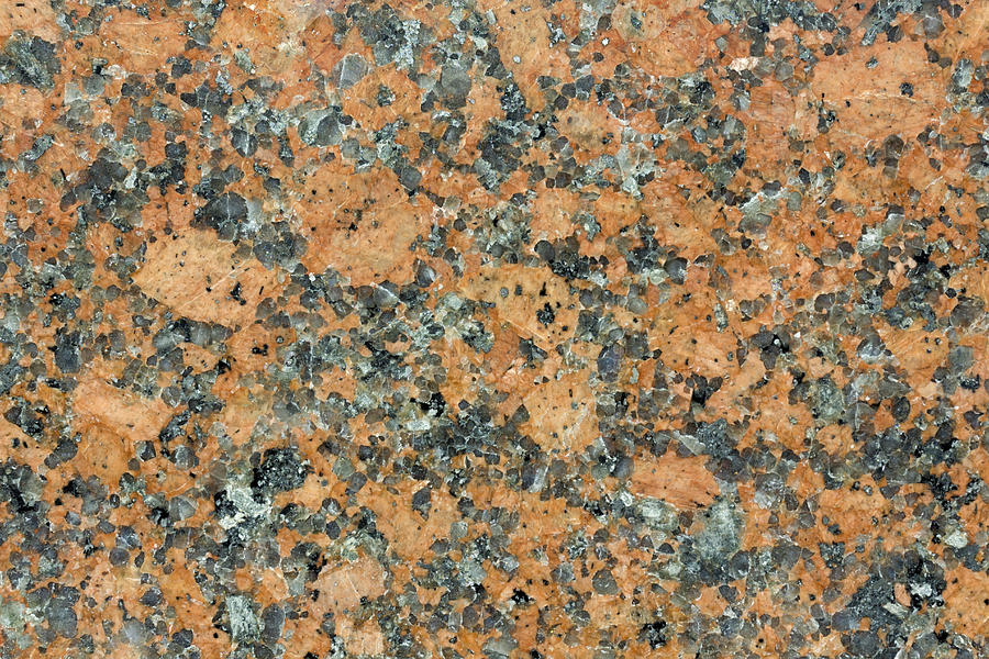 Polished Orange Granite Texture Photograph By Aleksandr Volkov