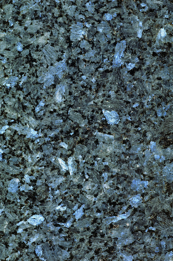 polished surface of alaskan blue pearl granite photograph by kaj r svensson. Black Bedroom Furniture Sets. Home Design Ideas