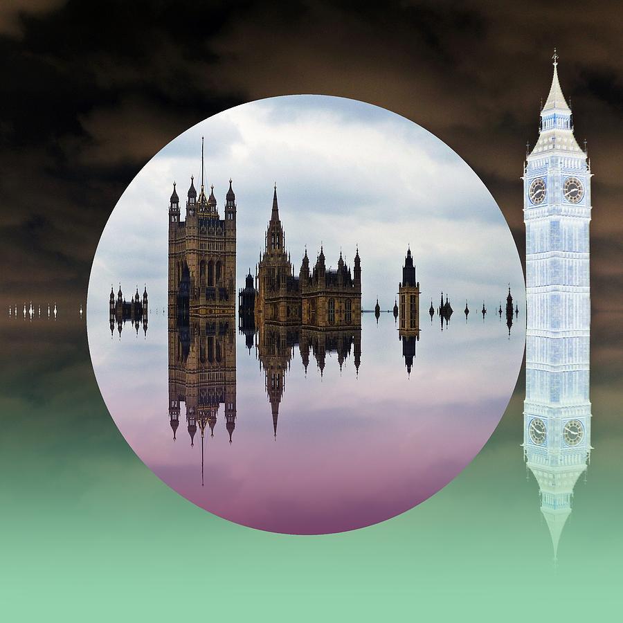 London Digital Art - Political Bubble by Sharon Lisa Clarke