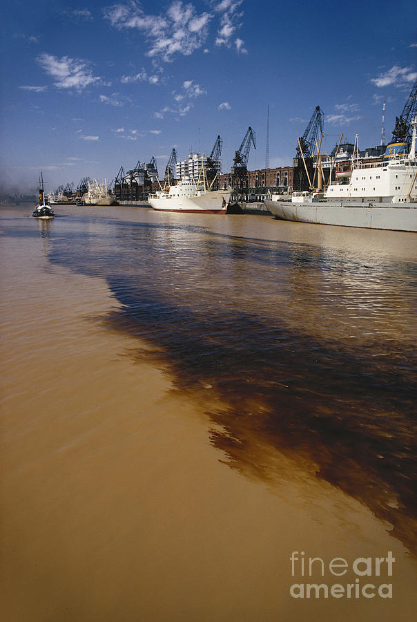 Nature Photograph - Polluted Water, Rio De La Plata by Bernard Wolff