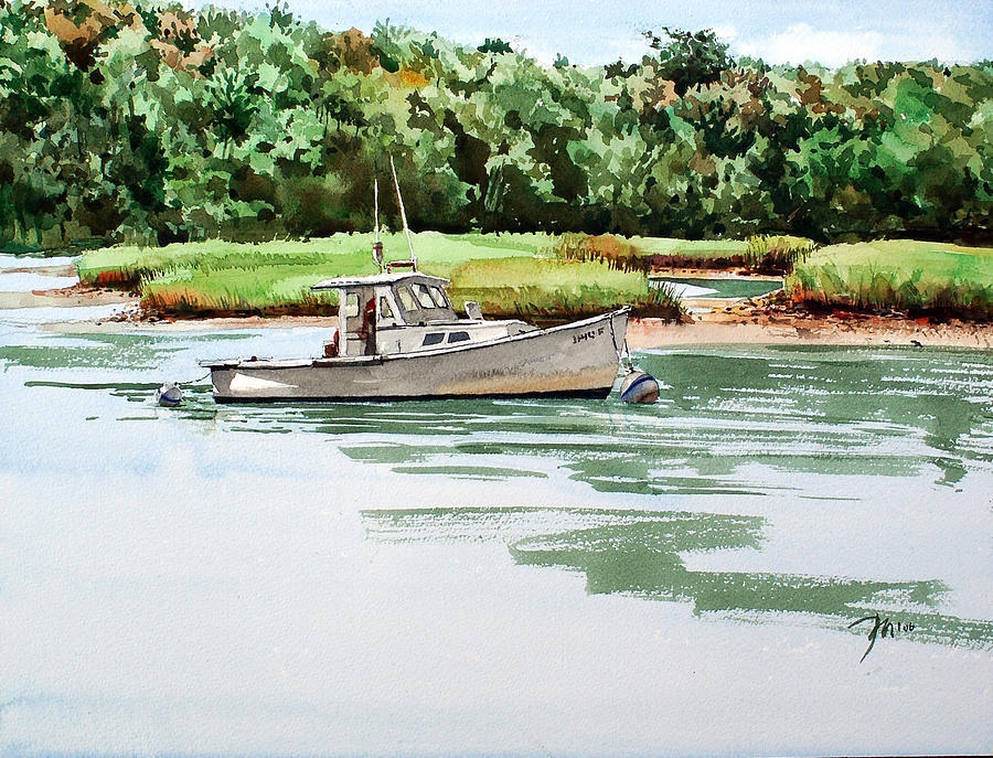 Painting Painting - Polly C On The Mill River by Peter Sit