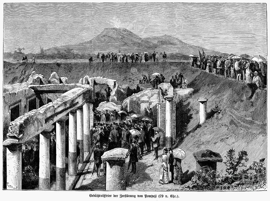 Pompeii Excavation 1880 Photograph By Granger