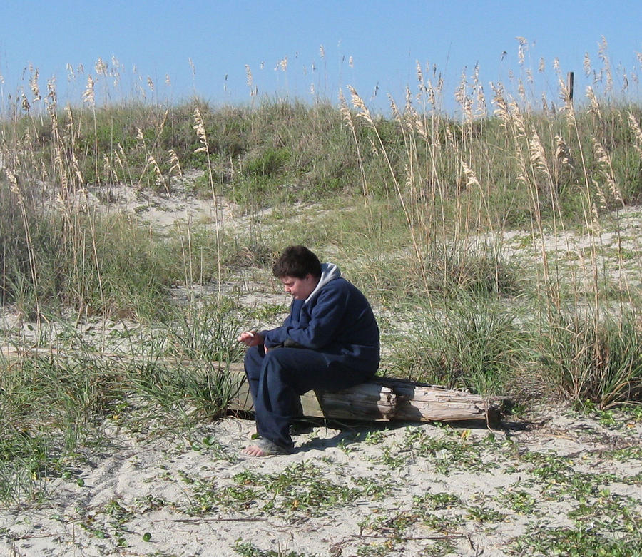Beach Photograph - Pondering by Juliana  Blessington
