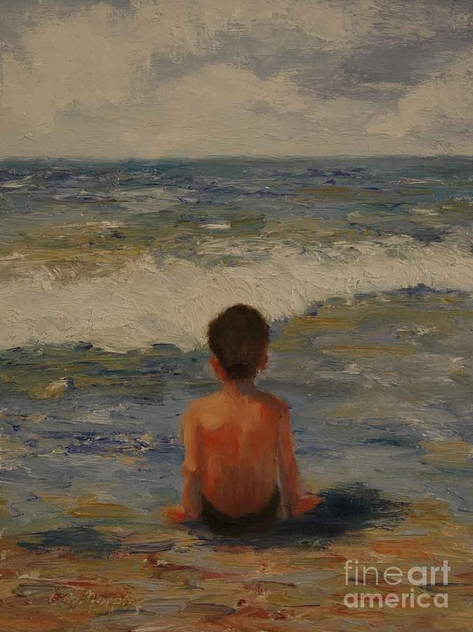 Seascape Painting - Pondering the Universe by Colleen Murphy