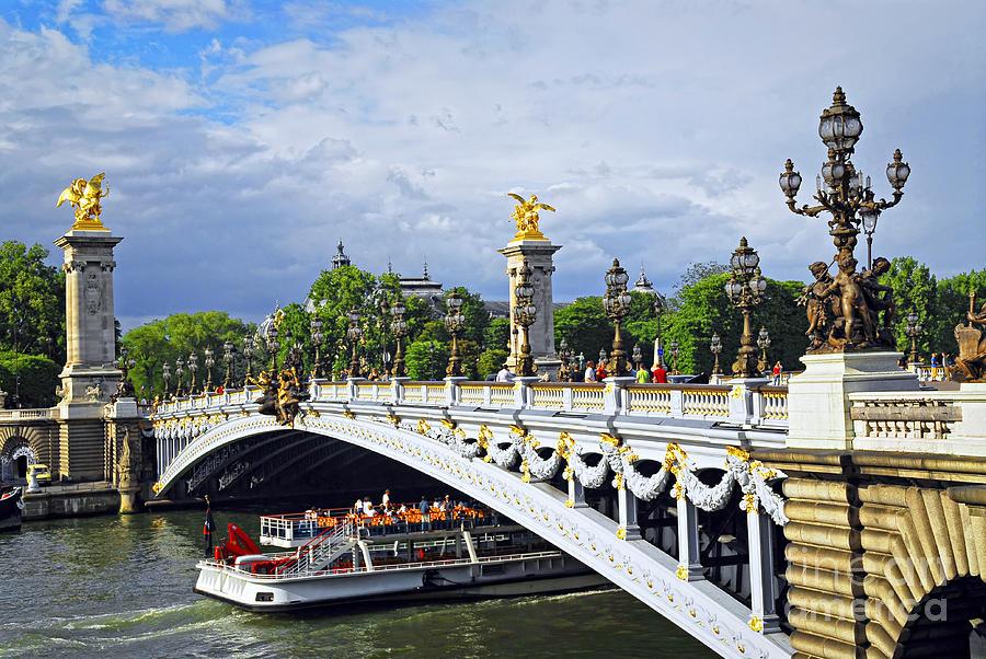 Bridge Photograph - Pont Alexander IIi by Elena Elisseeva