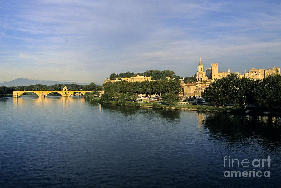 France Photograph - Pont Davignon Et Palais Des Papes. by Bernard Jaubert