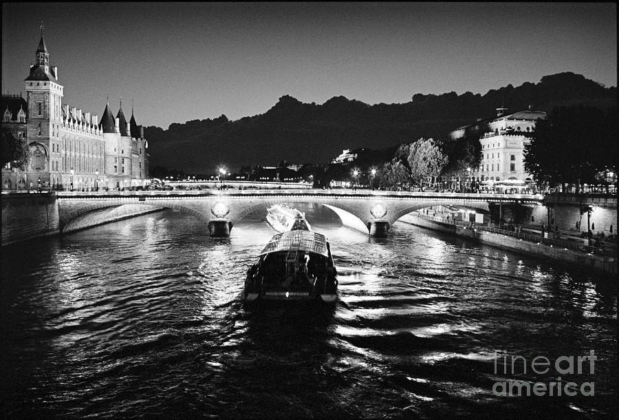 La Seine Photograph - Pont Napoleon and Cociergerie by Aldo Cervato