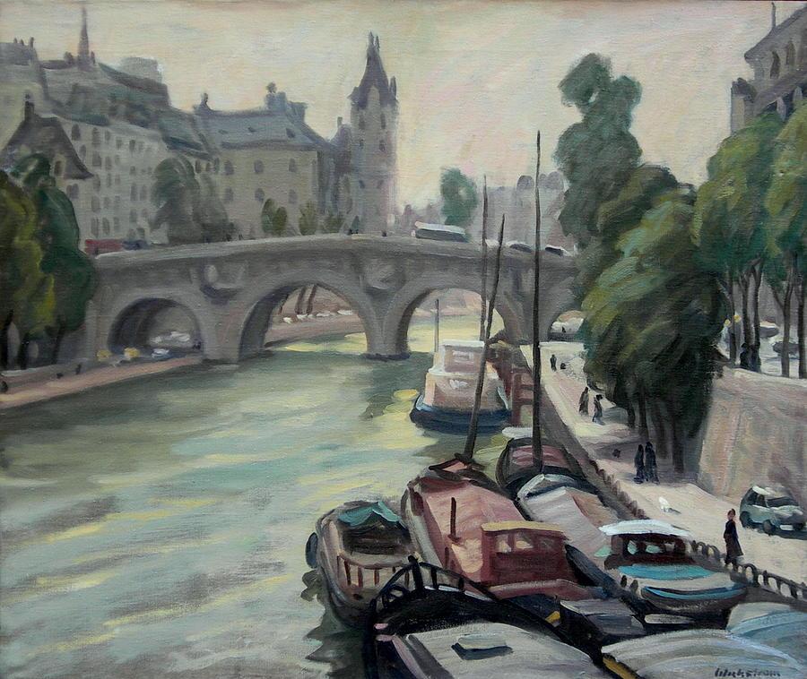 Paris Painting - Pont Neuf A Paris by Thor Wickstrom