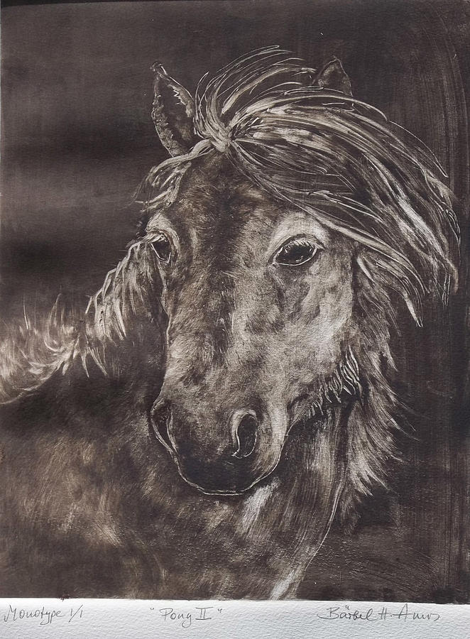 Pony Painting - Pony II by Barbel Amos