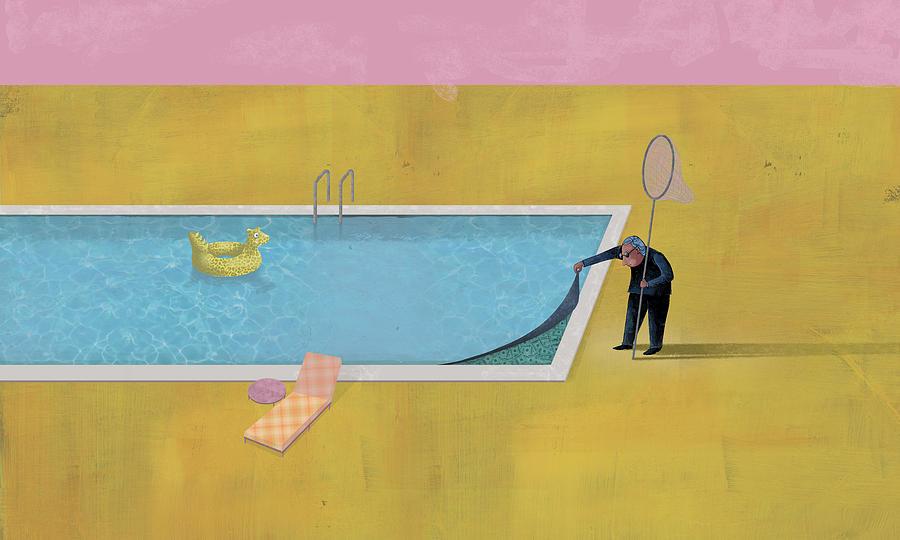 Dennis Wunsch Digital Art - Pool Animal 01 by Dennis Wunsch