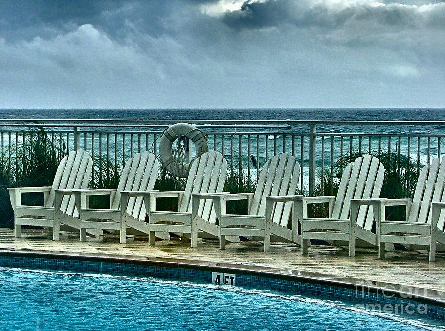 Gulf Of Mexico Photograph - Poolside With A View by Julie Dant