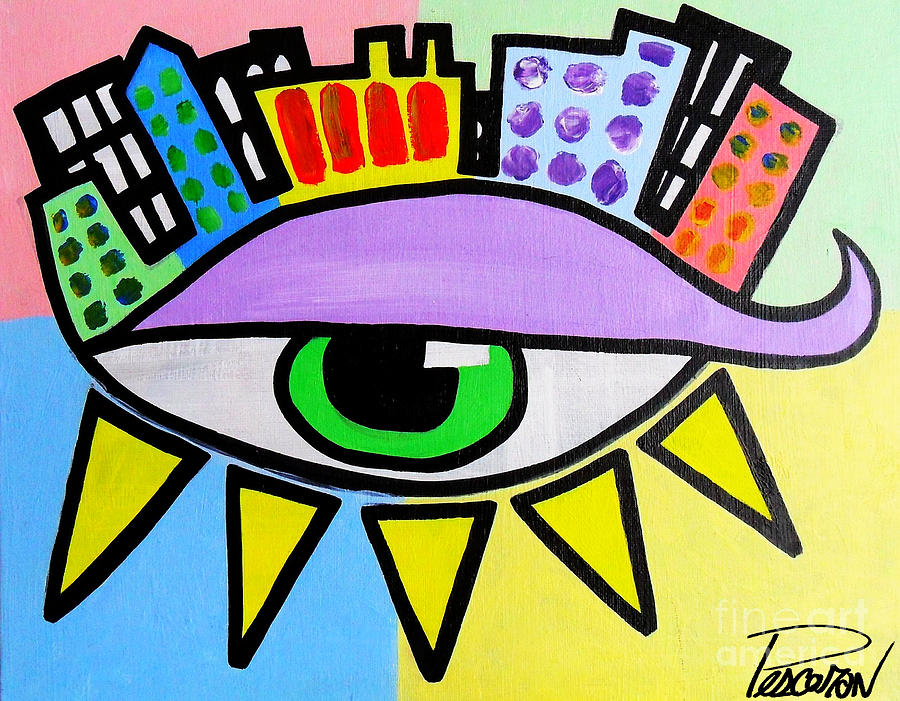 Paintings Painting - Pop City Eye by John Pescoran