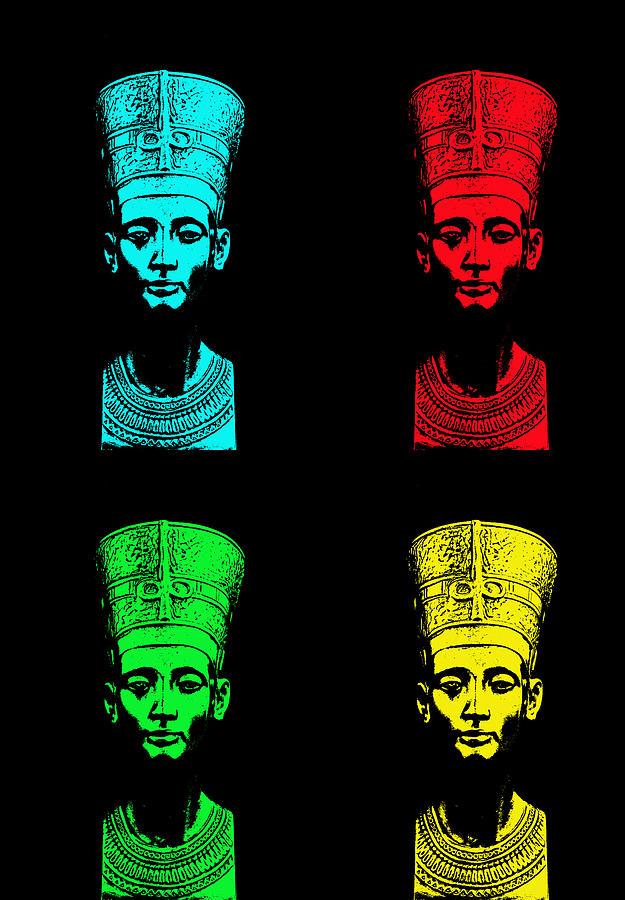 Queen Photograph - Pop Nefertiti by One Rude Dawg Orcutt