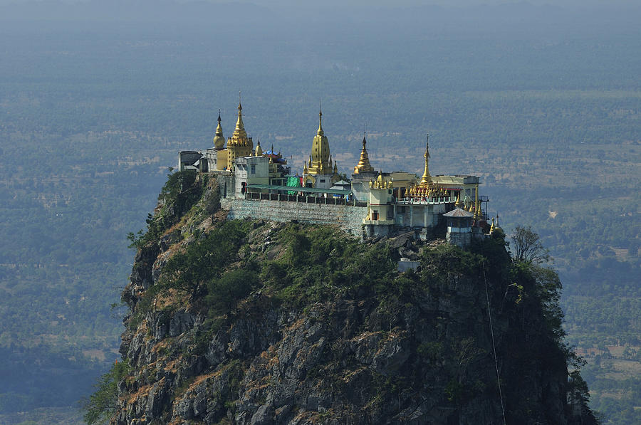 Horizontal Photograph - Popa Mountain Top Temple by Huang Xin