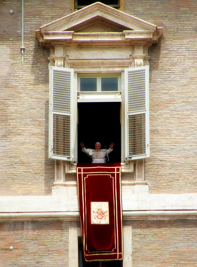 Pope Photograph - Pope Benedict Xvi A by Andrew Fare