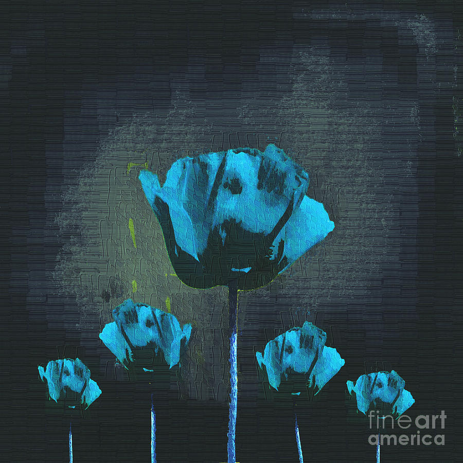 Poppies Digital Art - Poppies Fun 01 - Bb by Variance Collections