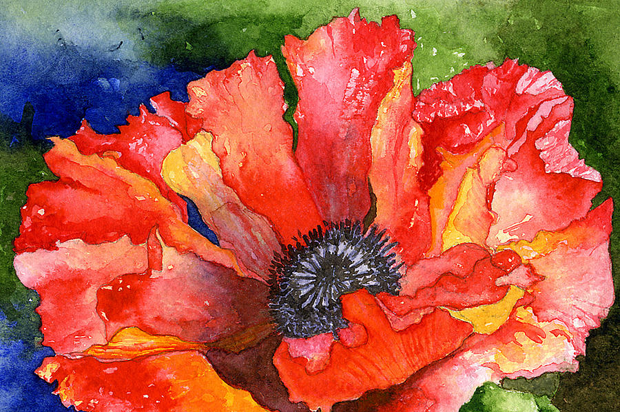 Red Painting - Poppy by Eunice Olson