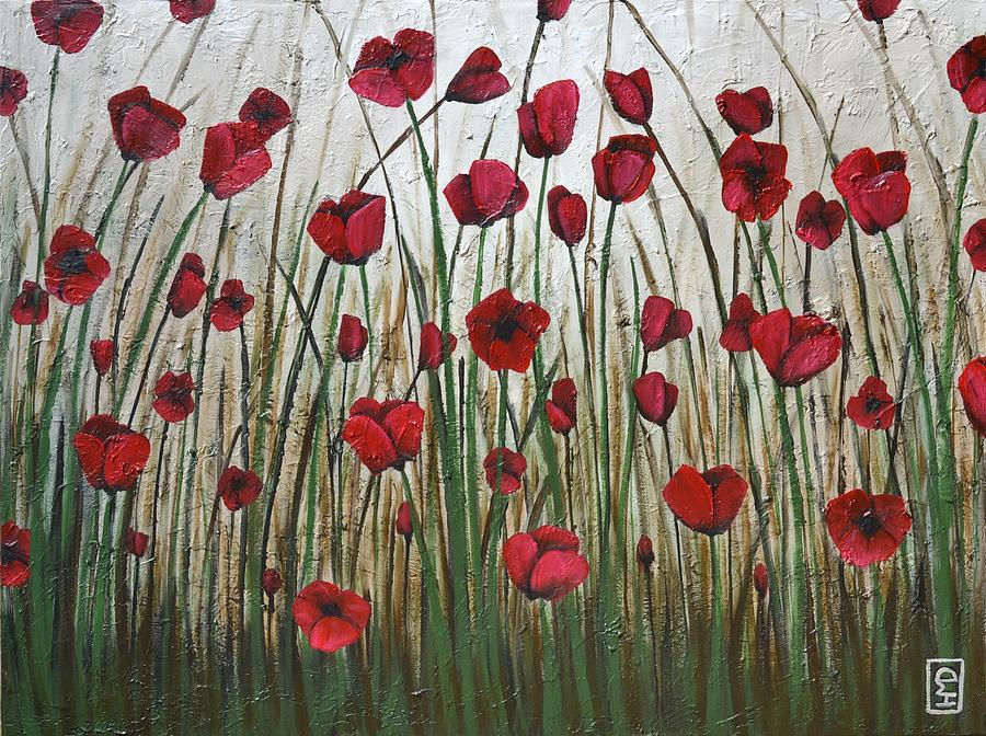 Poppy Painting - Poppy Field by Holly Donohoe