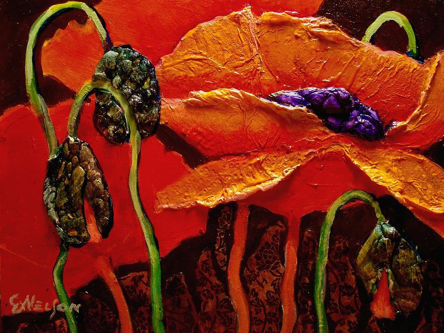 Poppy Painting - Poppy Fire by Carol Nelson