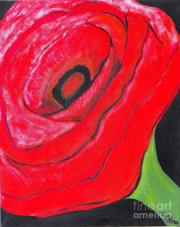 Poppy Painting - Poppy by Laura Ruben