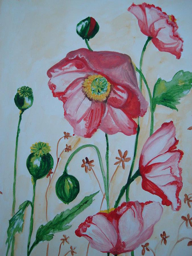 Poppies Painting - Poppy by Seema Sharma