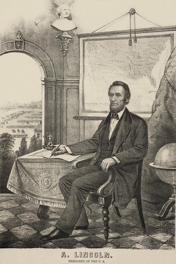 History Photograph - Popular Print Of President Lincoln Made by Everett