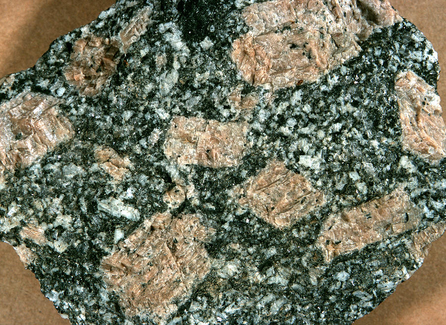 Granite Igneous Rock : Porphyritic texture in granite photograph by dirk wiersma
