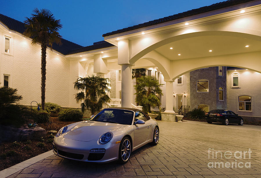 Porsche Parked At Mansion Photograph By Roberto Westbrook