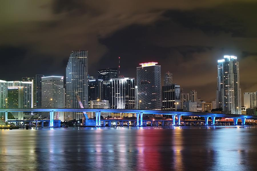 Florida Photograph - Port Of Miami Downtown by Gary Dean Mercer Clark