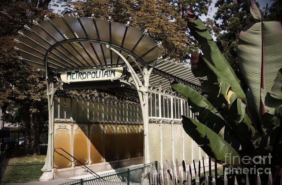 Paris Photograph - Porte Dauphine Metro by RicharD Murphy